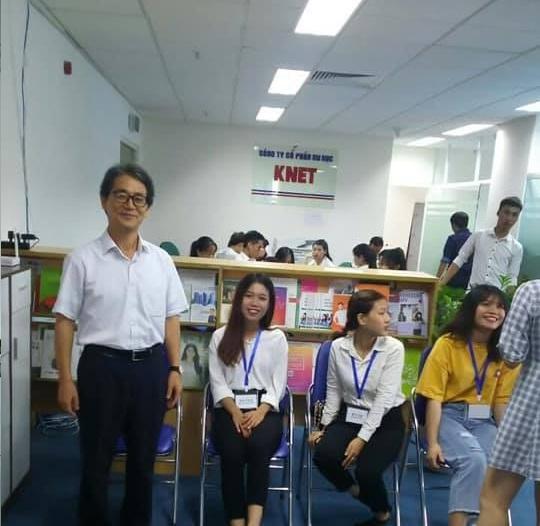 Giáo sư Lim làm đối ngoại ở du học Knet