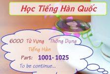 Học từ mới tiếng Hàn