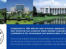 Học bổng trường đại học Inha