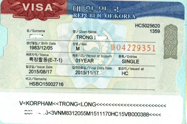 Danh sách 84 ngành nghề được cấp visa E7 Hàn Quốc