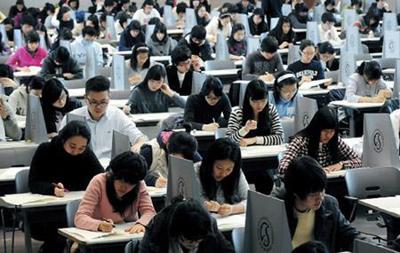 Trong phòng test tiếng Hàn