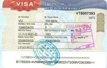 Visa kết hôn với người Hàn Quốc