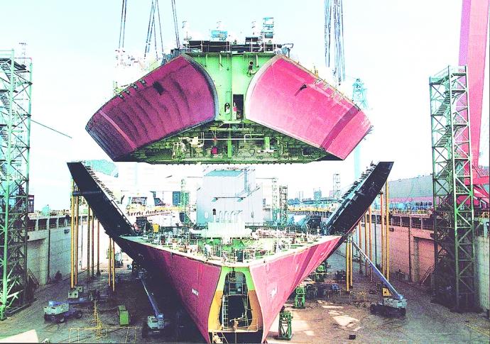 làm đóng tàu tại Hàn Quốc