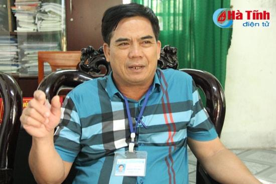 Phó Chủ tịch UBND xã Cương Gián Hoàng Văn Tiến