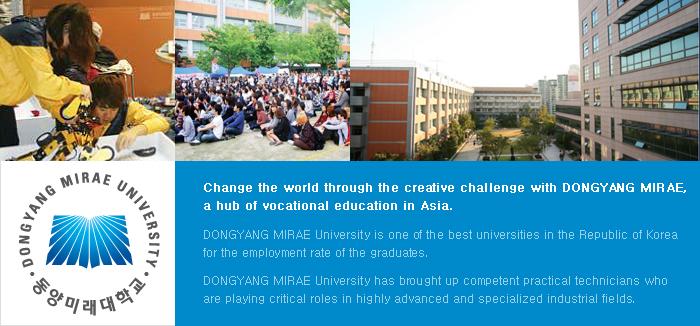 Đi du học nghề tại Đại học Dongyang Mirae Hàn Quốc