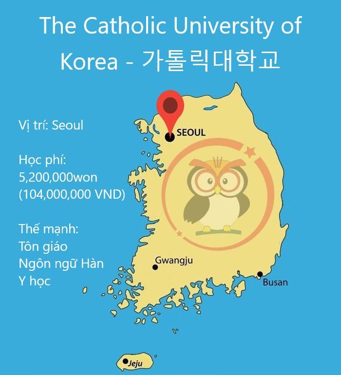 Bản đồ đại học Catholic University of Korea