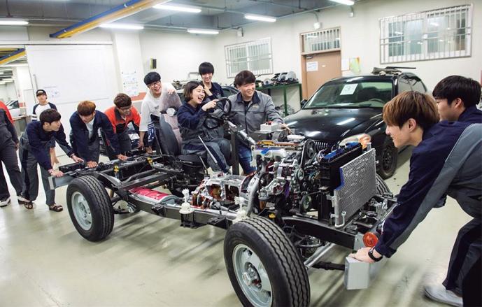 Trường cao đẳng Seojeong có ngành công nghệ oto được rất nhiều du học sinh lựa chọn