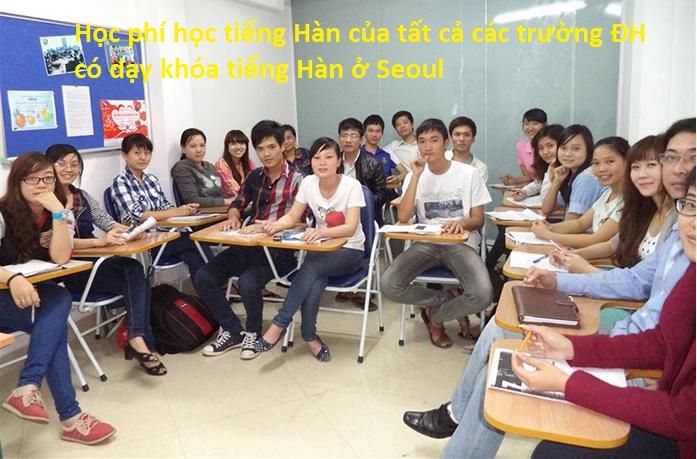 Học phí học tiếng Hàn tại các trường đại học ở Seoul