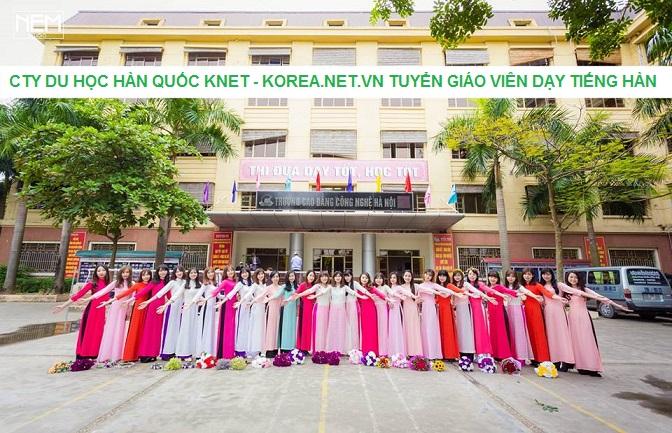 Giáo viên dạy tiếng Hàn ở Hà Nội tại Trường Cao đẳng Công nghệ Hà Nội