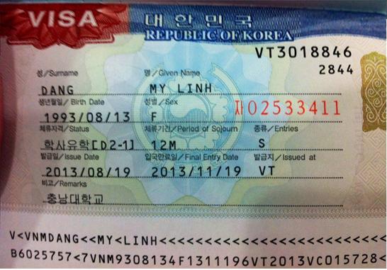 Visa D2-1 học cao đẳng ở Hàn Quốc này cũng rất khó mới ra được ở VN