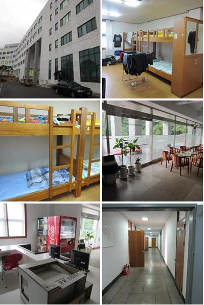 Phòng ký túc, nhà ăn của trường đại học Youngsan