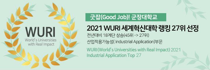 """Kunjang xếp hạng 27 trong lĩnh vực ứng dụng công nghiệp của """"Trường Đại học Sáng tạo Thế giới WURI năm 2021"""""""