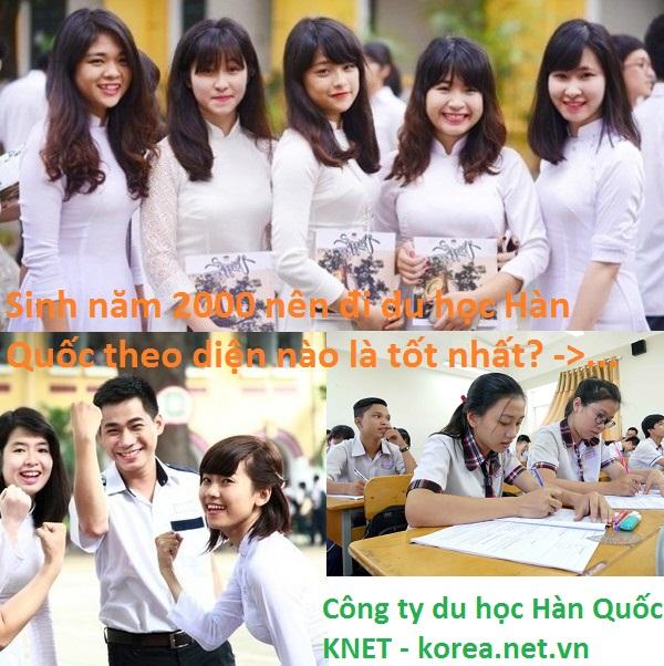 Sinh năn 2000 đi Du học Hàn Quốc diện nào tốt nhất