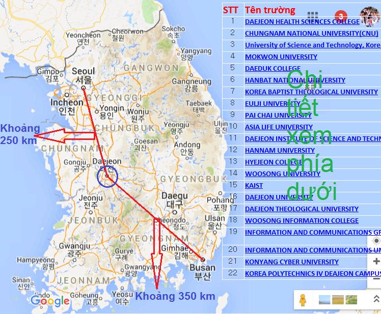 Các trường đại học ở DaeJeon