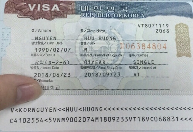 Visa D2-6 trao đổi sinh viên