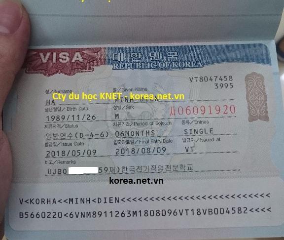 Visa du học nghề D4-6