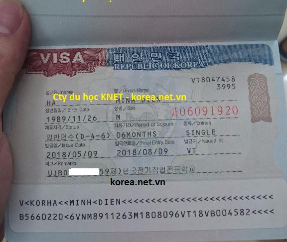 Rất khó khăn cty mới ra được visa D4-6 du học nghề Hàn này các bạn nhé