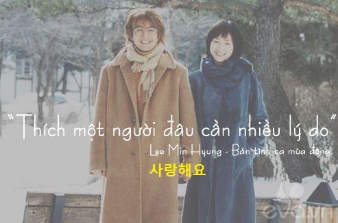 các câu nói tình yêu bằng tiếng Hàn