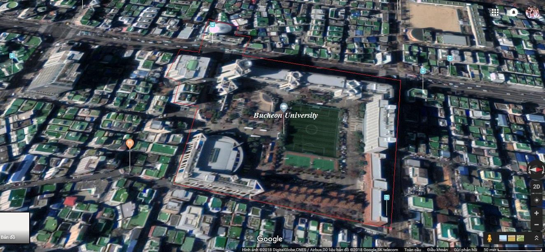 Bản đồ vệ tinh trường Bucheon