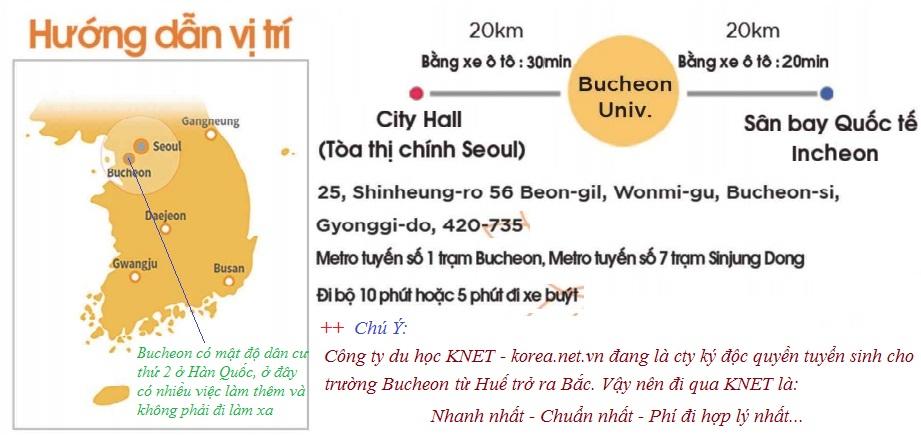 Vị trí trường Bucheon