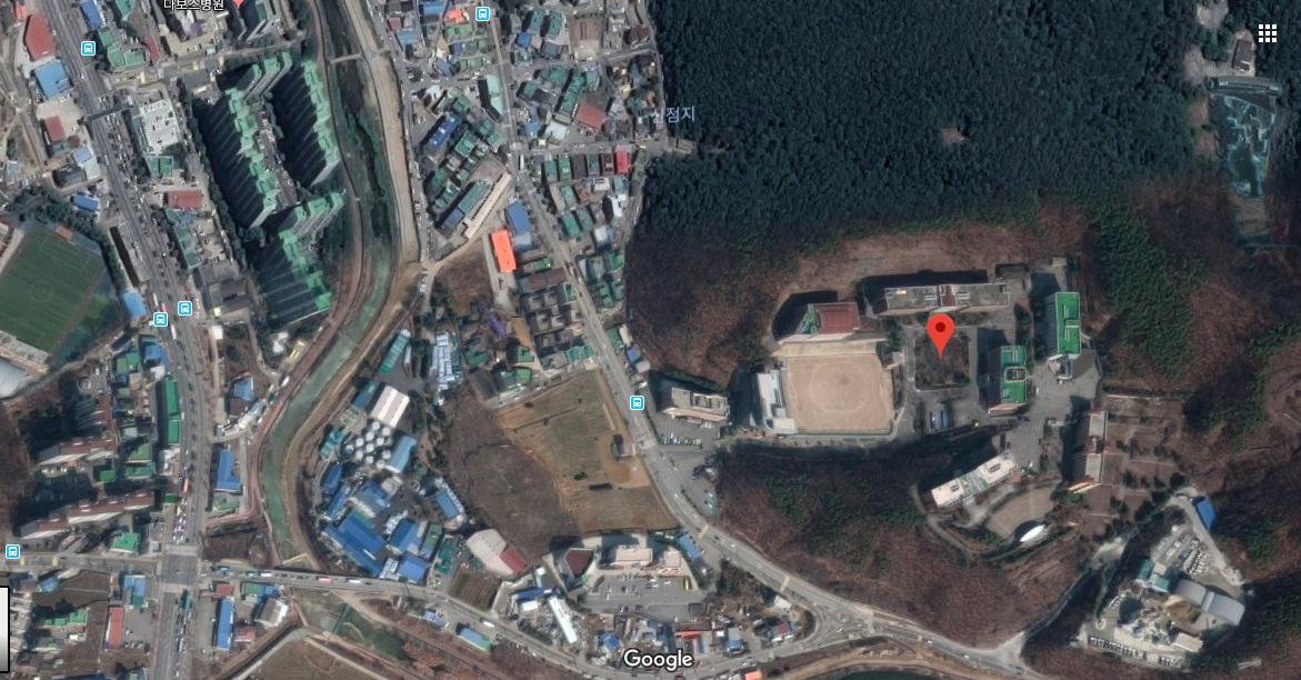 Ảnh vệ tinh trường cao đẳng Yong-In Songdam