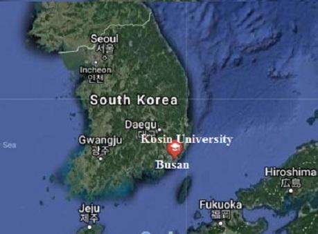 Vị trí của trường Đại học Kosin