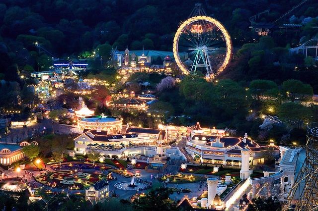 Hình ảnh công viên giải trí Everland về đêm