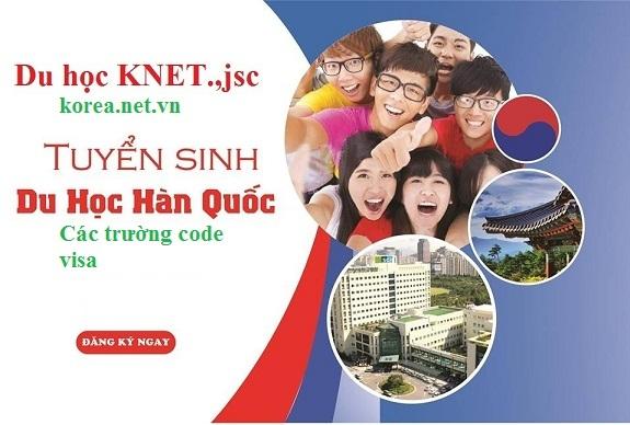 Tuyển du học sinh Hàn Quốc trường code visa