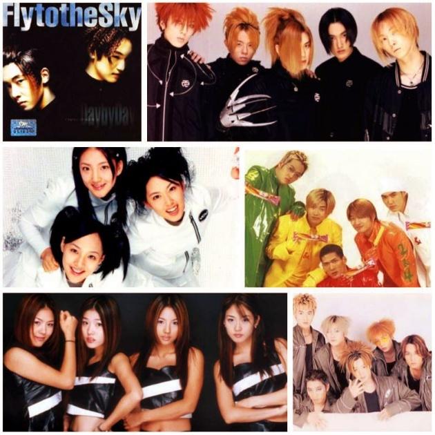 Hình ảnh một số nhóm nhạc đời đầu của nền công nghiệp K-pop