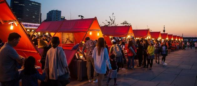 Chợ đêm Yeouido tại Hàn Quốc