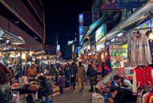 Khung cảnh Chợ đêm Hàn Quốc Dongdaemun
