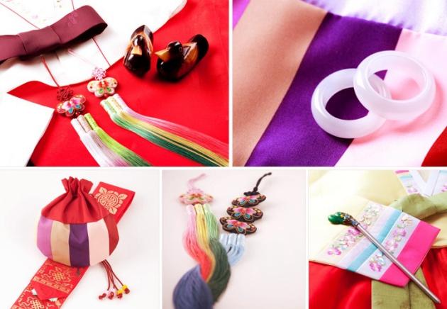 Có rất nhiều phụ kiện có thể đi cùng hanbok
