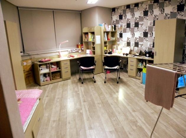 Hình ảnh 1 phòng đôi tại ký túc xá trường Đại học Semyung