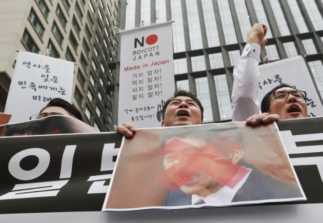 Phong trào tẩy chay hàng hóa Nhật Bản đang diễn ra mạnh mẽ tại Hàn Quốc