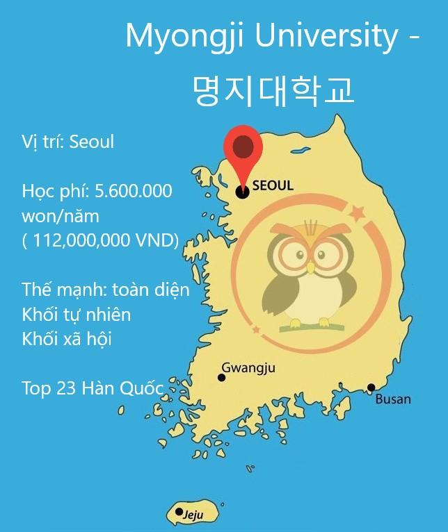 đại học Myongji: học phí, thế mạnh