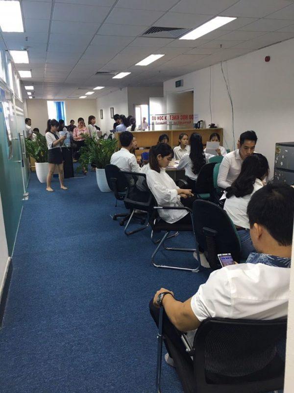 Công ty Knet trong ngày phỏng vấn du học sinh