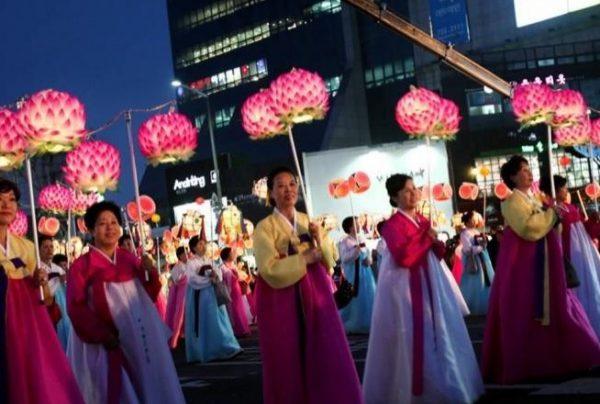 Rước đèn lồng trong lễ Phật Đản tại Hàn Quốc