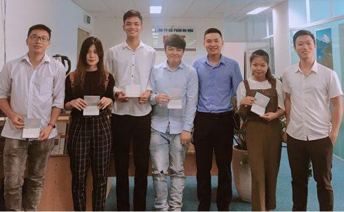Trao visa du học tại công ty Knet