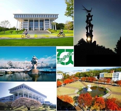 Toàn cảnh trường đại học công lập Chonnam rất đẹp