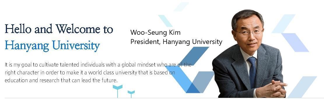 Hiệu trường đai học Hanyang Woo-Seung Kim có nhiều chính sách cho du học sinh Việt Nam
