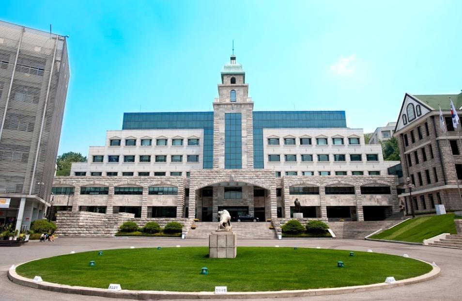 Khuôn viên đại học Hanyang ở Seoul