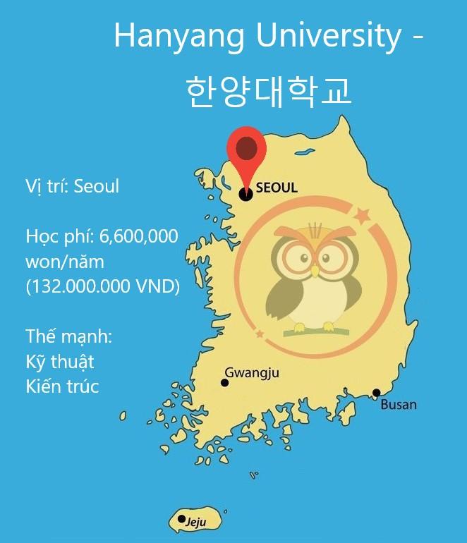 Bản đồ vị trí đại học Hanyang ở Seoul: học phí và thế mạnh của trường