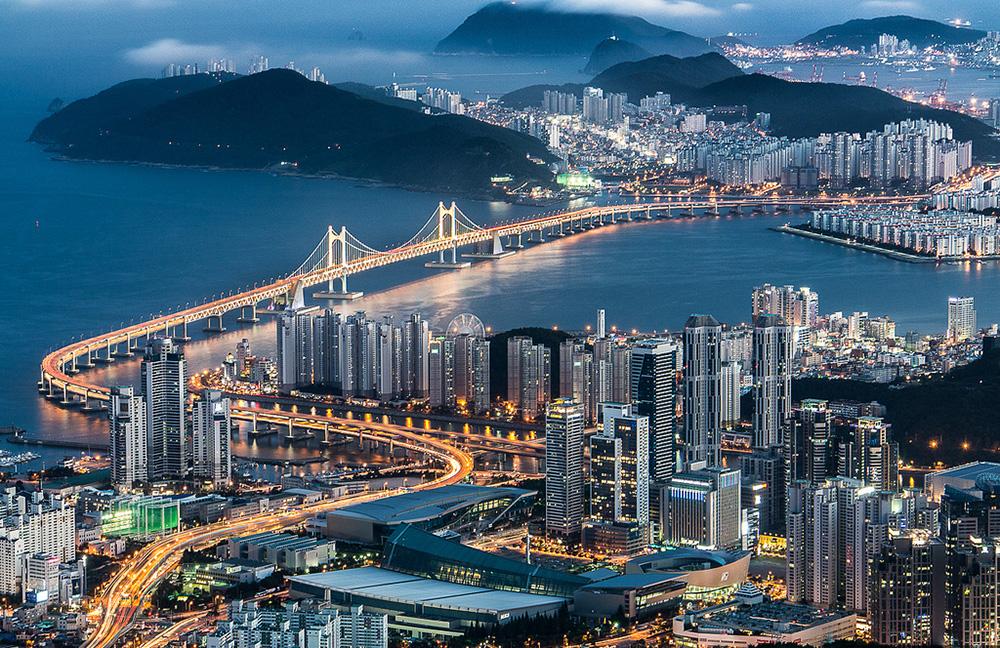 Gwangan cây cầu trên biển Gwangalli dài nhất Hàn Quốc