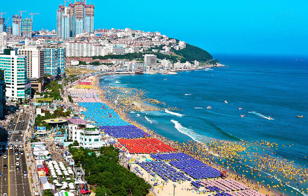 Haeundae một trong những bãi biển đẹp nhất Hàn Quốc