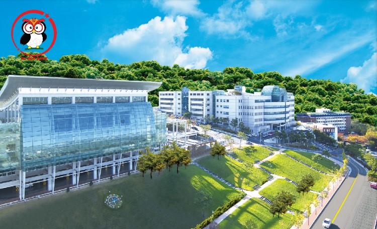 Khuôn viên sang xịn mịn của trường Đại học Daegu Haany