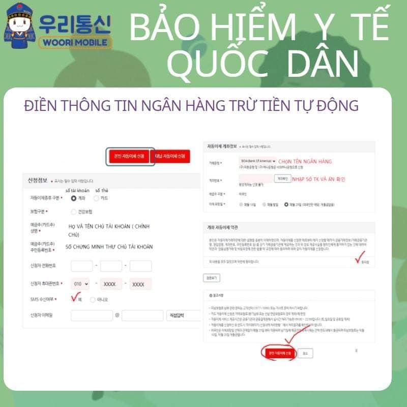 Hướng dẫn đăng ký thanh toán bảo hiểm quốc dân tự động