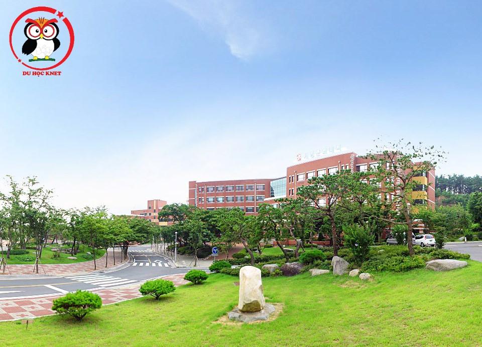 Khuôn viên trường Văn hóa Keimyung rất đẹp và rộng rãi