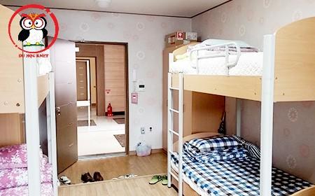 Phòng ký túc xá của Keimyung College University đầy đủ tiện nghi