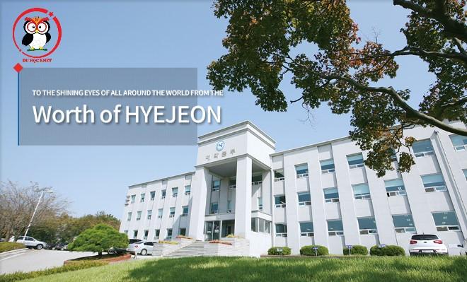 Khuôn viên trường cao đẳng Hyejeon nhìn xịn xò