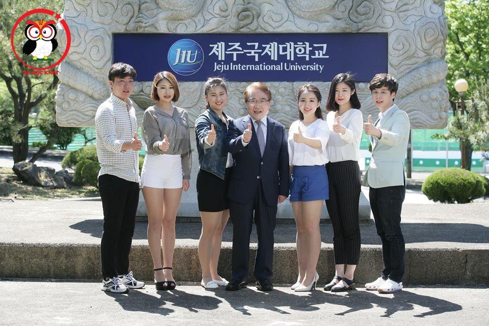 Đại học Quốc tế Jeju thật xinh đẹp phải không các bạn